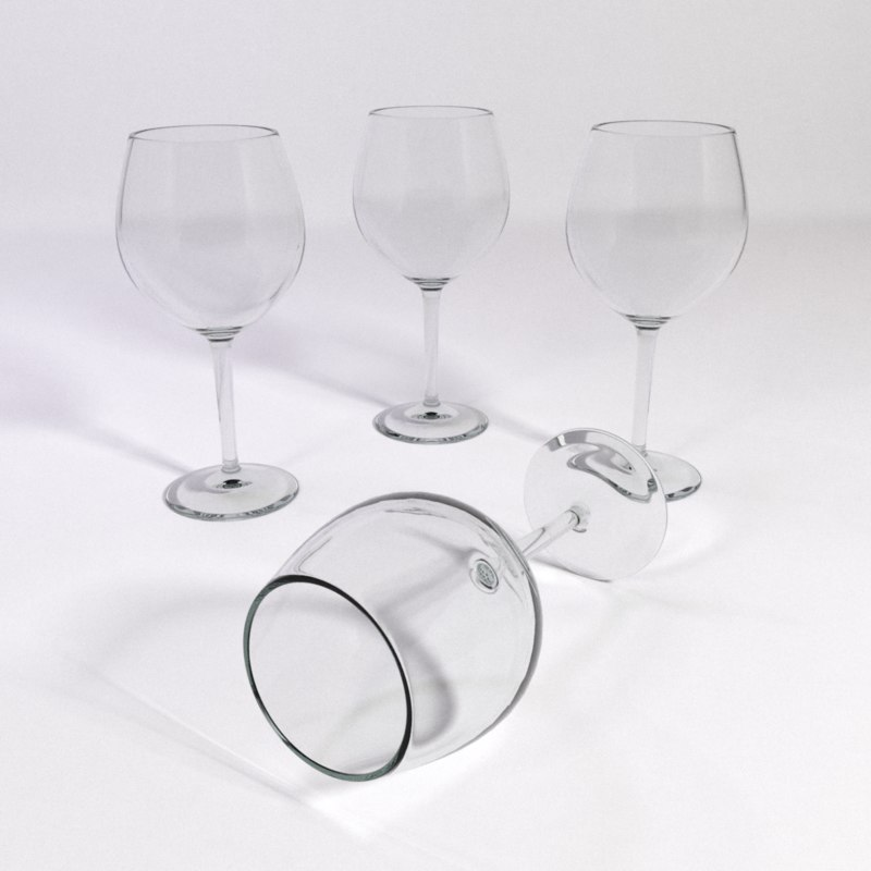 red wine glass big 3d model