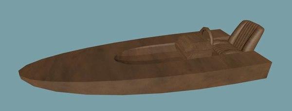 boat toy speed 3d model