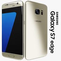 samsung galaxy s7 edge 3d obj