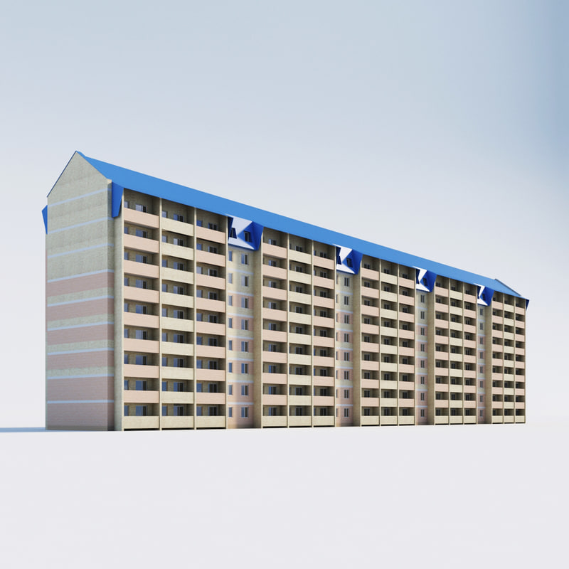 3d building residential model