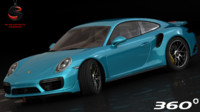 3d model realistic porsche 911 turbo