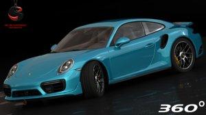 3d model realistic porsche 911 turbo