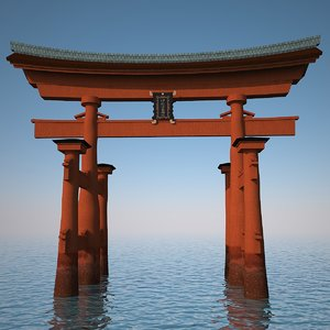torii gateway gate 3d model