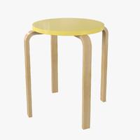 ikea frosta stool 3d max