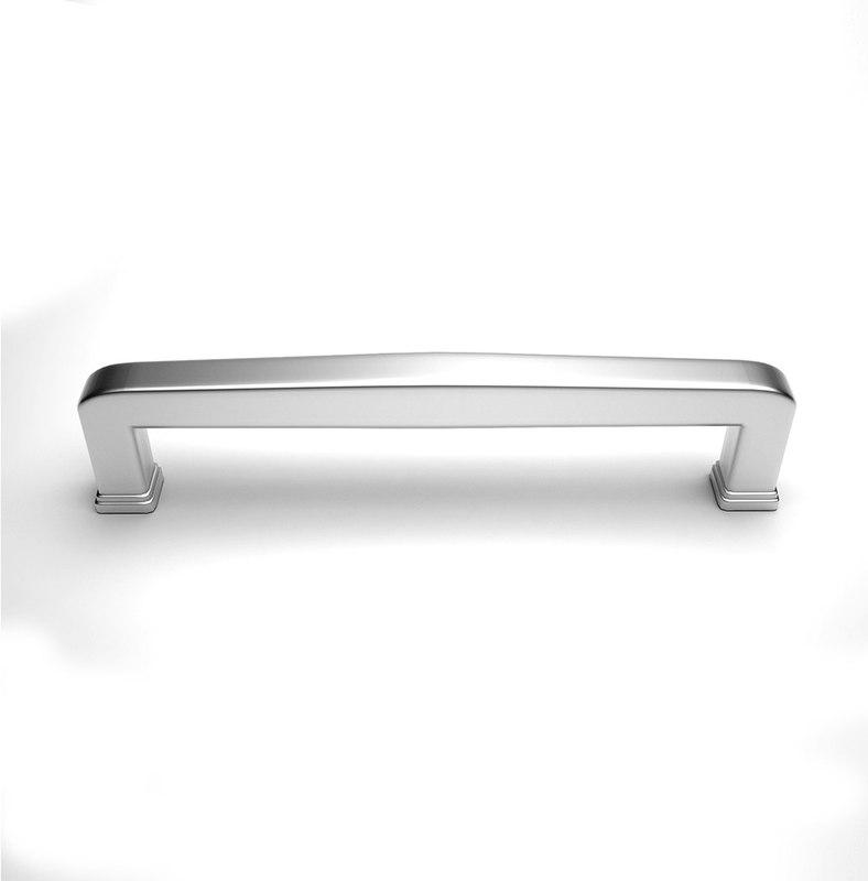 3d chrome cabinet handles