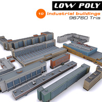 10 industrial buildings 3d model