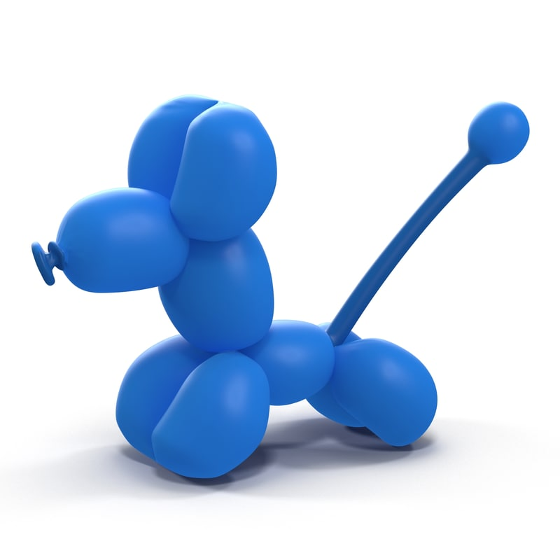 balloon poodle 3d model