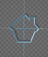 3d model cookie cutter house