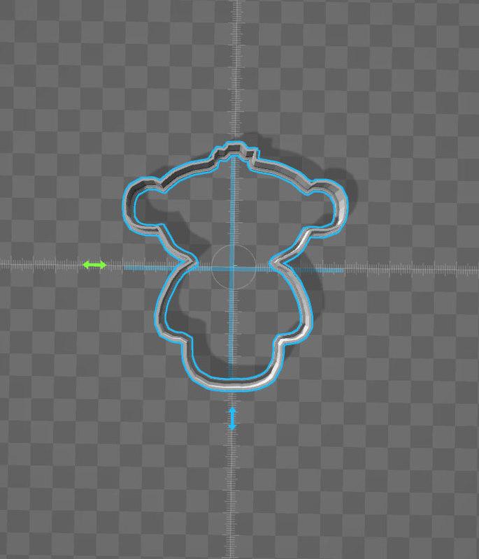 cookie cutter monkey 3d 3ds