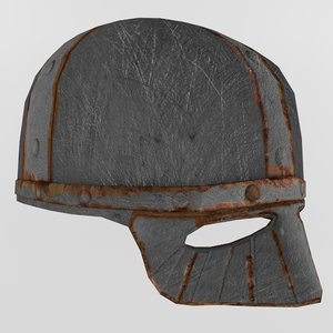 3d model viking helmet