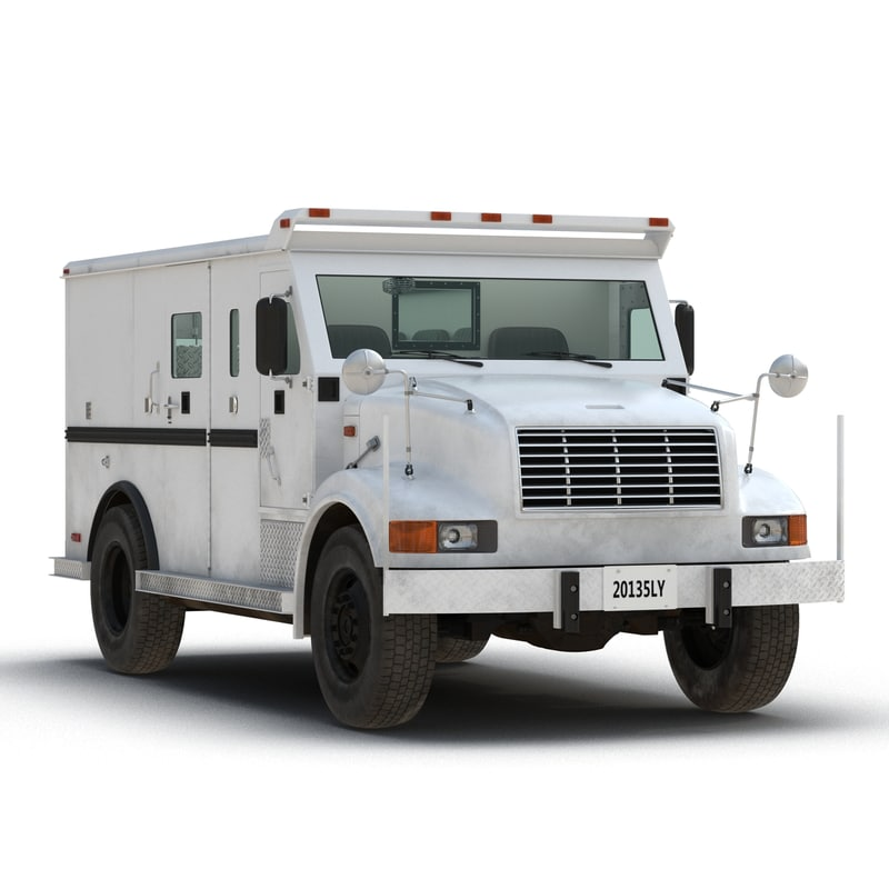 bank armored car rigged 3d model