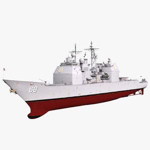 3d model missile cruiser anzio cg