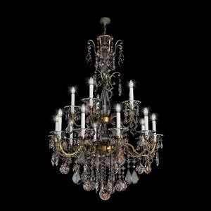 3d model chandelier schonbek