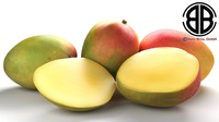 3d photo realistic mango model