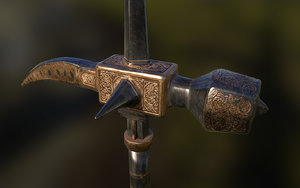 3d model realistic medieval weapon