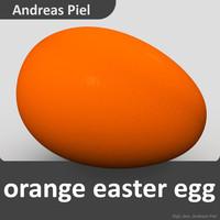 3d egg orange