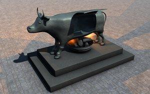 3d brazen bull torture device model