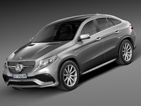 HQ Lowpoly Mercedes-Benz GLE63 AMG Coupe 2016