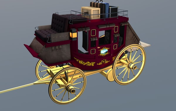 3d stagecoach luggage model