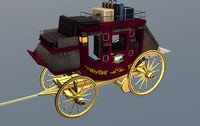 Stagecoach Wagon with Luggage