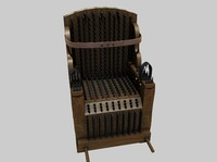 3d iron chair torture device model
