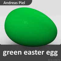 3d egg green