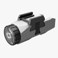 3d model pistol flashlight generic