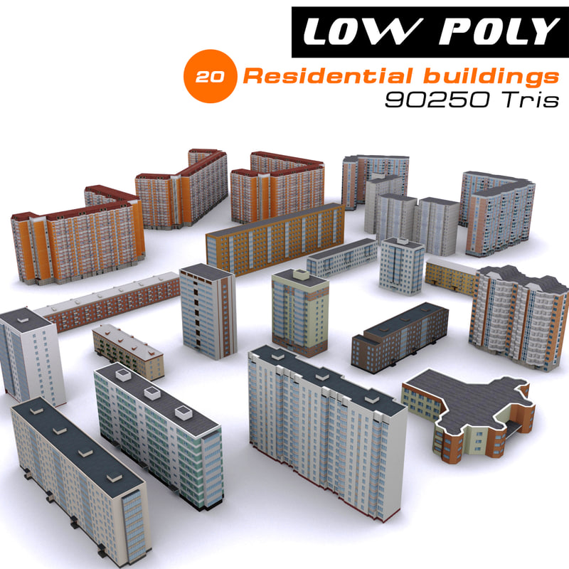 3d model 20 residential buildings