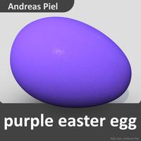egg purple 3d model