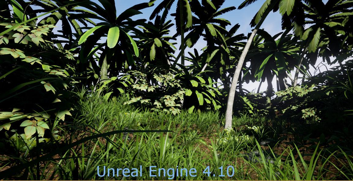 3d medium pc plants trees model