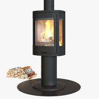 3d contura 880 fireplace model