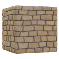 Geometric Brick Wall