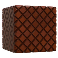 Hand Painted Red Cobblestone