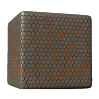 Hexagonal concrete Tiles with Orange Mold