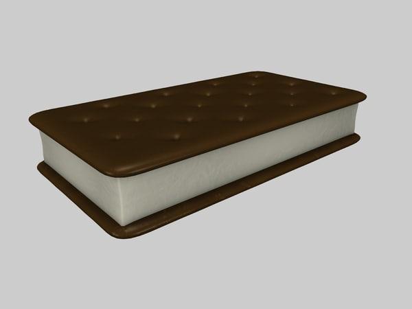 3d model ice cream sandwich
