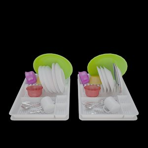 3d model v-ray dish drainer plate