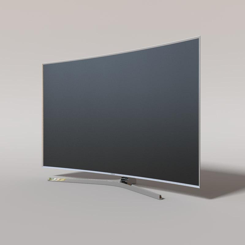 samsungs curved tv 3d obj