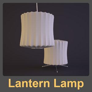 3d lantern lamp george nelson model