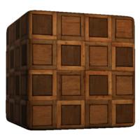 Checkered Wood Tile Floor