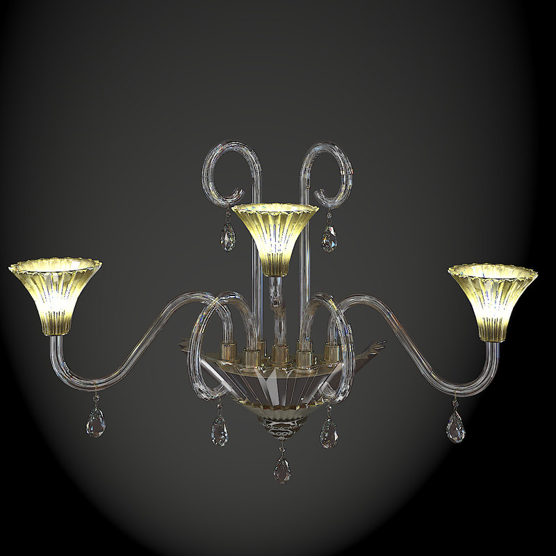 3d moollon sconce lamp