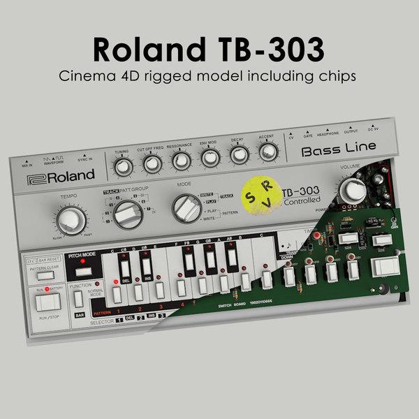 tb-303 rigged 3d model
