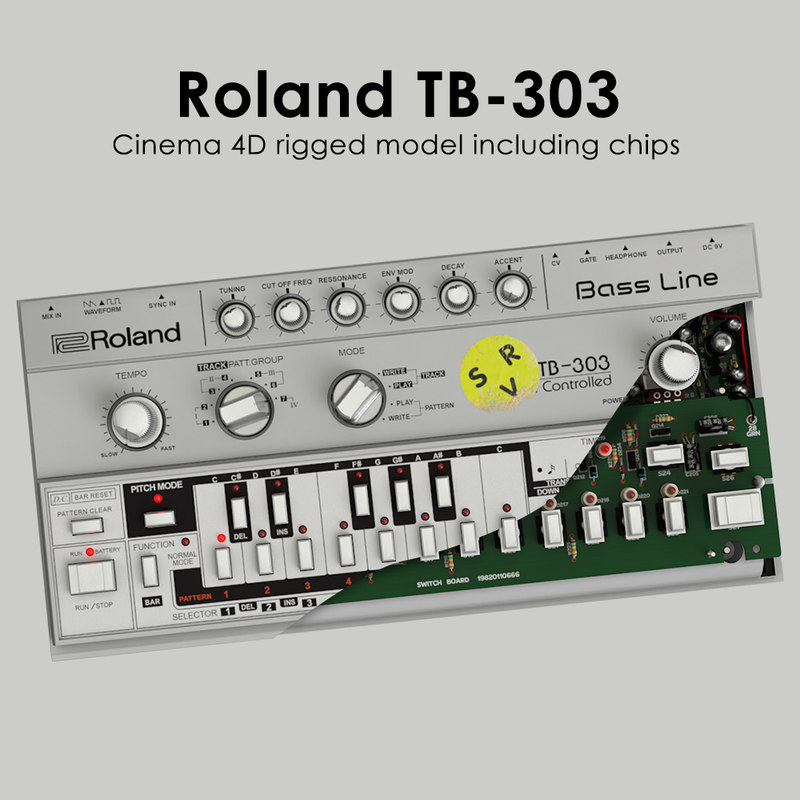 tb-303 rigged 3ds