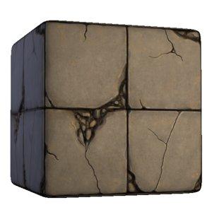 Concrete Broken Floor Tiles
