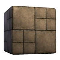 Concrete Square Patterns Alternating