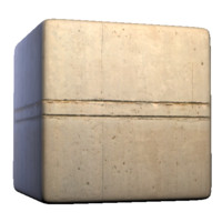 Concrete Wall Parallel Grooves