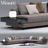 minotti sofas white