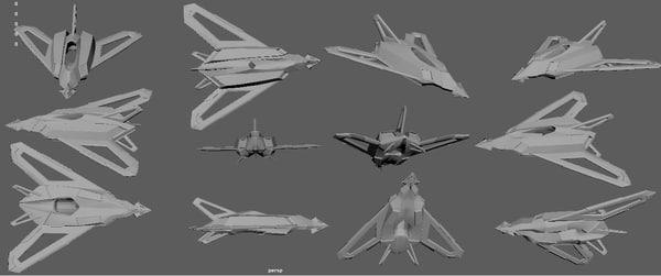 free drone broadhead 3d model