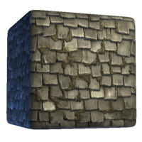 Stylized Blue Pirate Ceramic Roof
