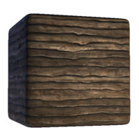 Uneven Wood Wall Siding