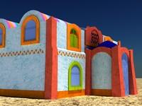 nubian house 3d max